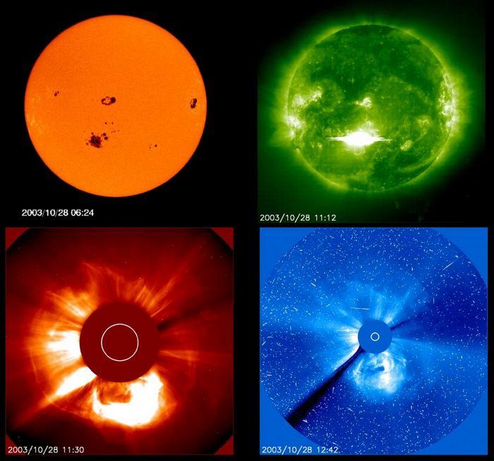 10 Самых мощных солнечных штормов вистории человечества