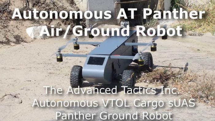 Беспилотник airmule совершает испытательный полет, демонстрирующий все его возможности