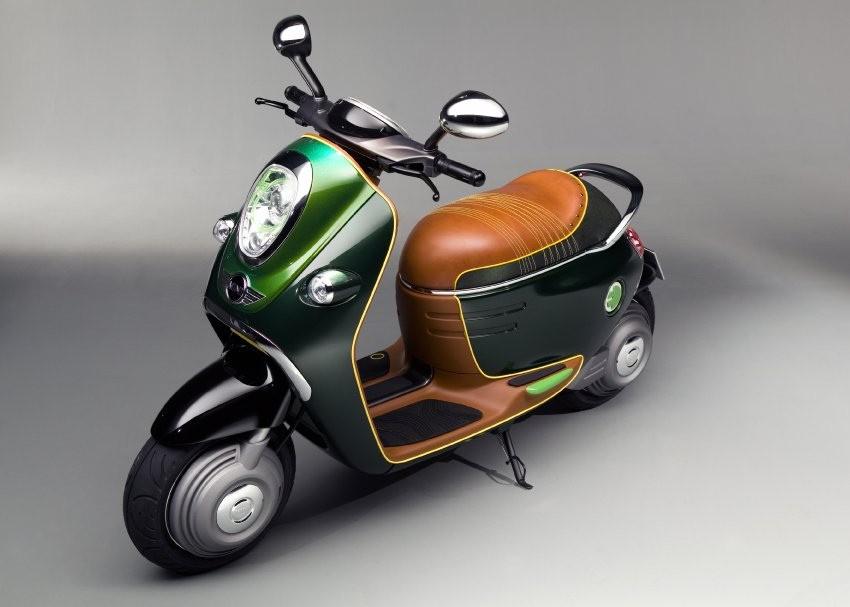 Bmw показывает электромотороллер mini scooter e в преддверии автошоу в париже