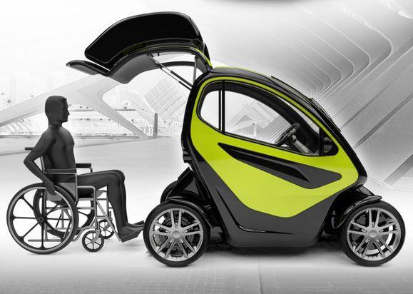 Equal - компактный электромобиль для людей с ограниченными возможностями