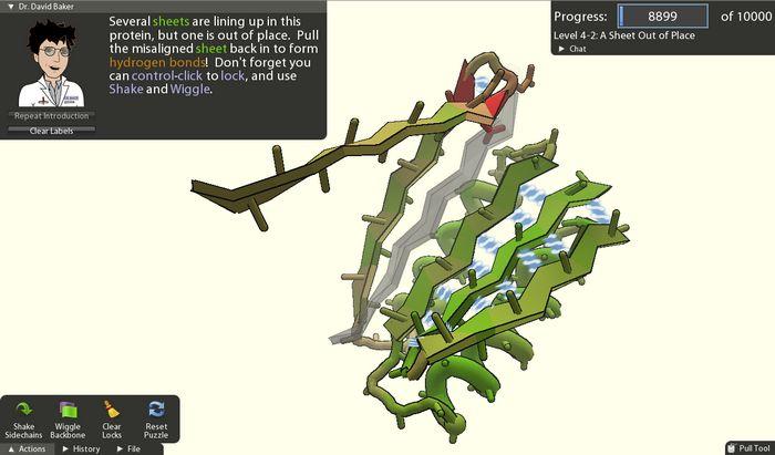 Foldit: онлайн-игра, в которой геймеры могут внести свою лепту в науку