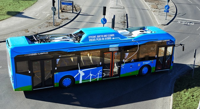 Гибридные автобусы volvo берегут природу и экономят энергию