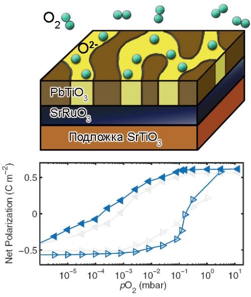 Химическое переключение поляризации в сегнетоэлектрике