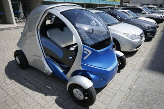 Изворотливый электромобиль armadillo-t