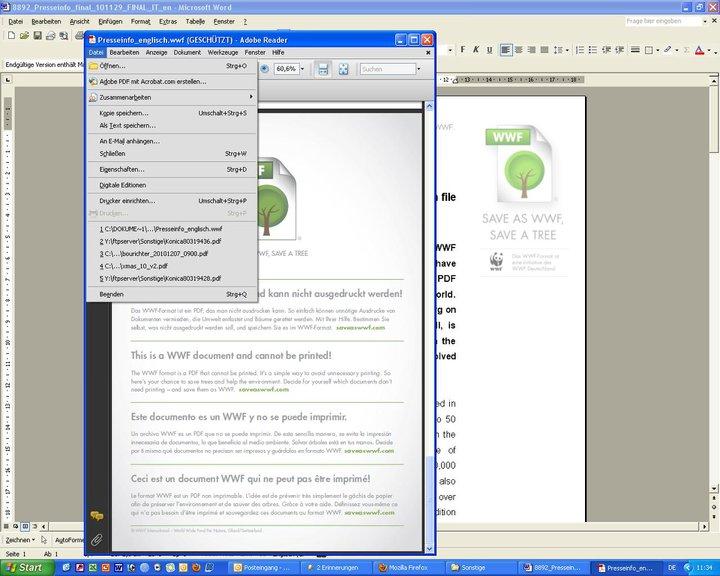 Экологически дружественный формат файлов от wwf