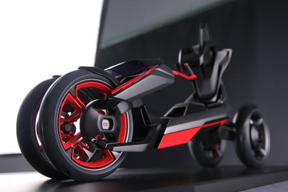 Электромотоцикл на четырех колесах audi nexus