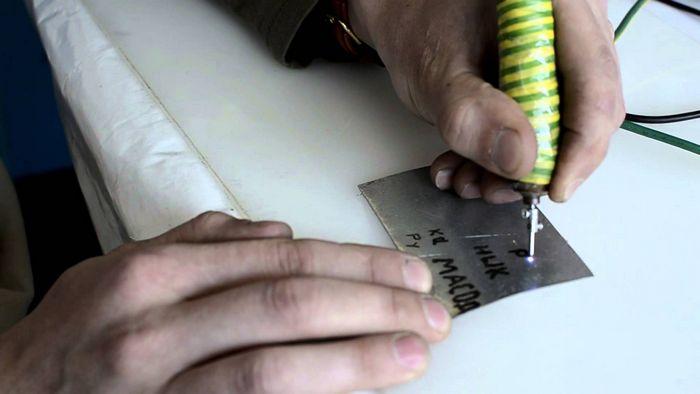 Как сделать электроискровой маркер по металлу