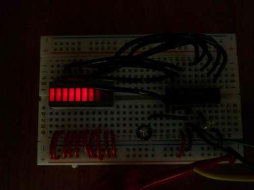 Как собрать индикатор аудио сигнала на lm3915