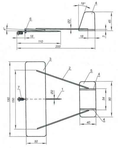 Комнатная модель планёра по схеме «рама»