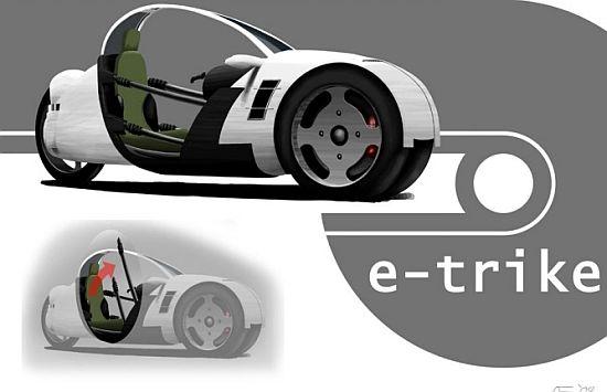 Концепт трёхколёсного электромобиля «e-trike»