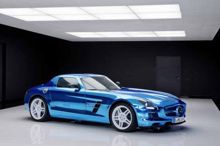 Mercedes-benz sls amg coupe electric drive – самый быстрый электрокар в мире