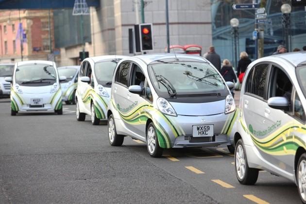Mitsubishi imiev: первая фаза испытаний закончена в великобритании