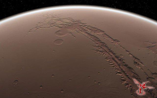 На марсе тоже есть великий каньон