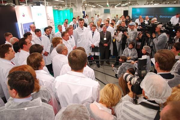 На заводе оптоган открылось крупнейшее в странах восточной европы и снг производство светодиодов