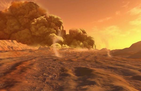 Песчаные бури на марсе – реальность