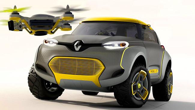Renault kwid — гибридный концепт с летающим помощником