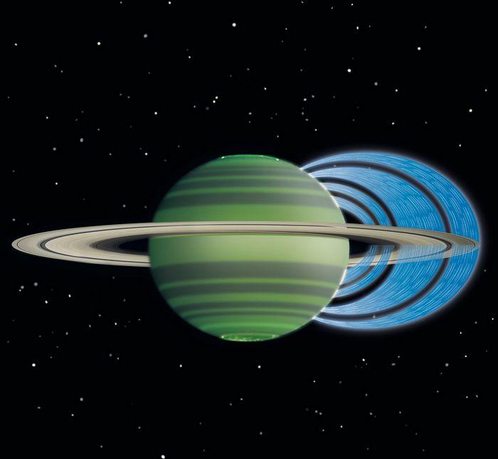 С колец сатурна льется дождь