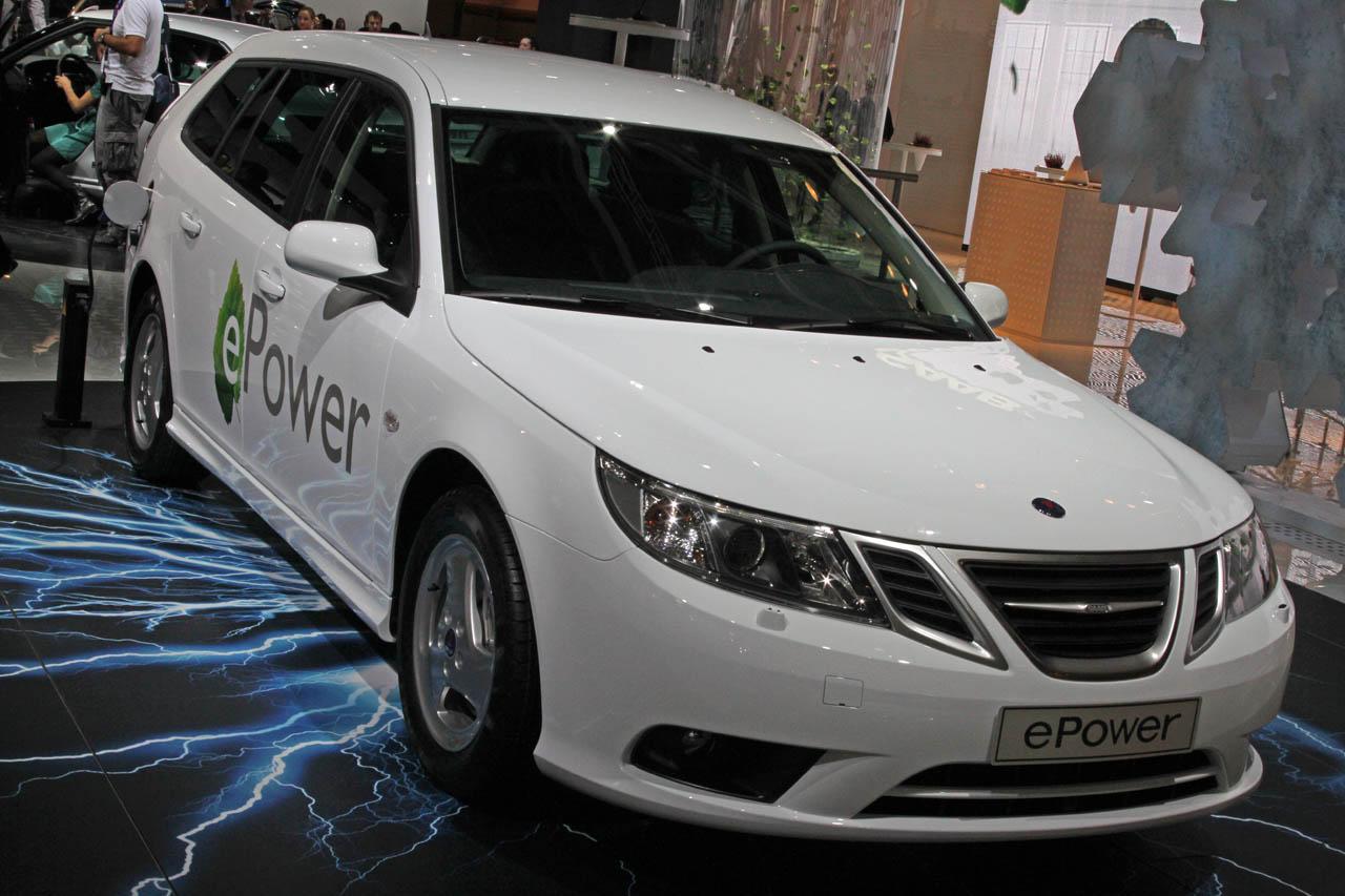 Saab 9-3 epower – шведский электромобиль на автосалоне в париже