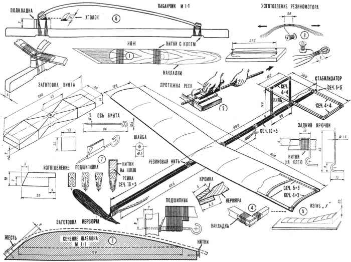 Схематическая модель самолета