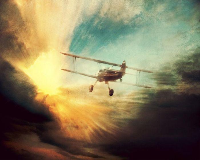 Сквозь облака: почерк самолета