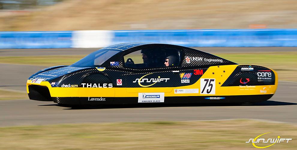 Солнечный электромобиль из австралии бьет рекорд скорости и дистанции