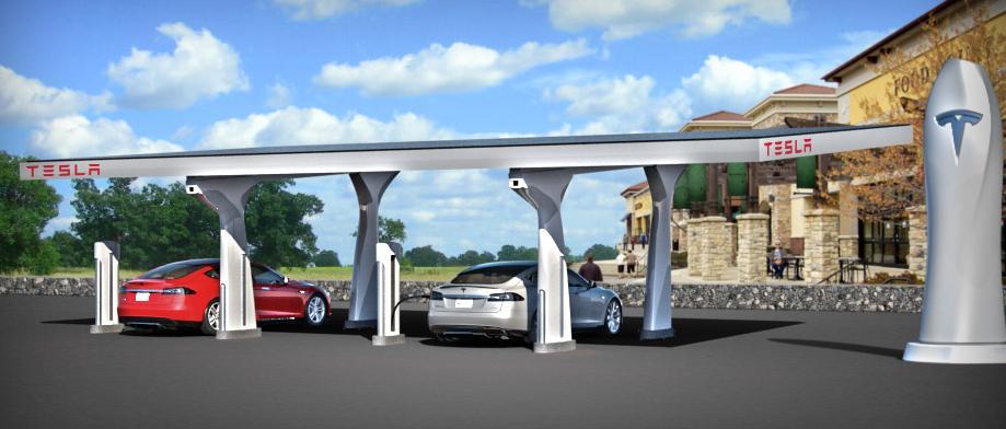 Supercharger – сеть быстрых зарядных станций для электромобилей tesla