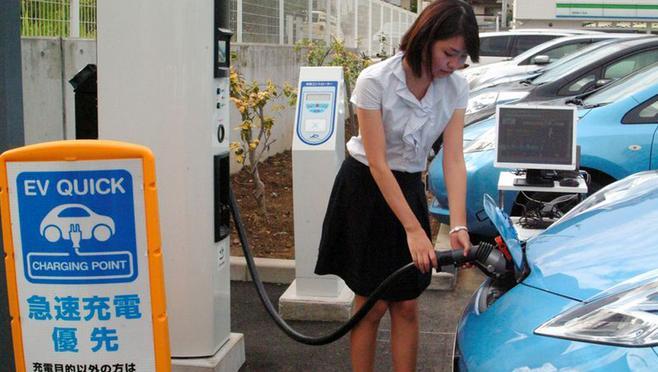 В японии введена плата за заряд электромобилей