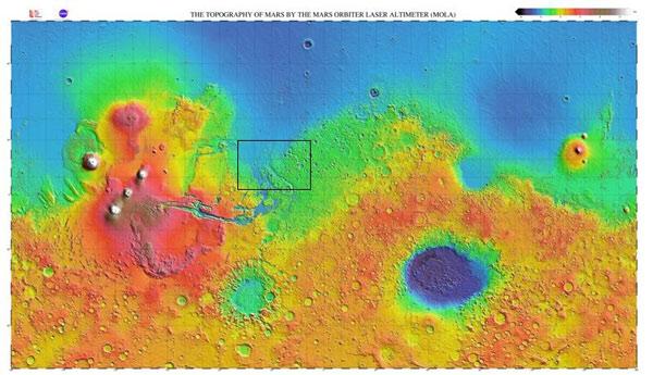 Возможные места посадки миссии «экзомарс 2018»