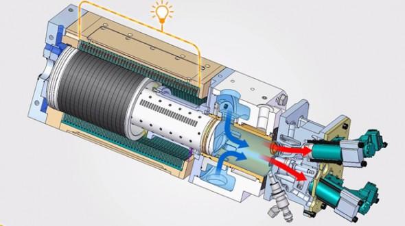 Вырабатывающий электричество двигатель внутреннего сгорания от toyota